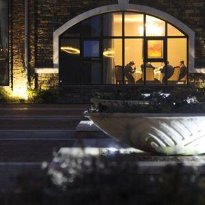 夜幕下天目湖南山花园酒店